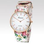 Geneva dámské hodinky Rose bílé