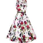 Retro šaty Lady V London Audrey Violet Floral -