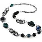 Jablonec Dlouhý náhrdelník 34fja269238 - tmavě modrý