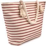 Textilní taška pruhovaná - Červená a béžová univerzal