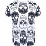 Černo-bílé pánské triko ZOOT Originál Lebky
