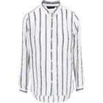 Černo-bílá košile s dlouhým rukávem New Look