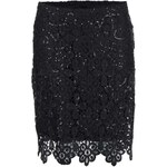 Černá květovaná sukně s flitry Dorothy Perkins