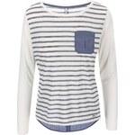 Bílé pruhované tričko ONLY New Rocco