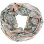 Zelený vzorovaný dutý šátek Pieces Tynlus