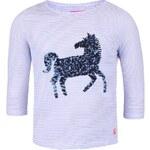 Modré holčičí triko s potiskem koně Tom Joule