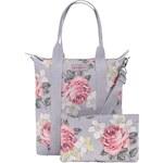 Šedý skládací shopper s květy Cath Kidston