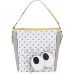 Žluto-šedo-bílý puntíkovaný shopper Anna Smith