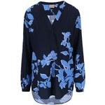 Tmavě modrá květovaná halenka Vero Moda Paja