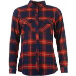 Lee Cooper Flannel Shirt Ladies, navy/red