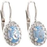 a-diamond.eu jewels s.r.o. (CZ) Náušnice stříbrné světle modré sna647