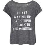Šedé dámské volnější tričko ZOOT Originál I Hate Waking Up