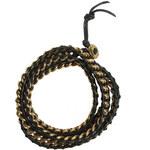 Mint Chain Wrap Bracelet gold black