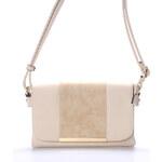Dámská luxusní crossbody kabelka béžová - Hexagona Francesca béžová