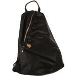 YooY Koženkový asymetrický batoh černá
