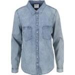 Modrá denim košile se sepraným efektem Vero Moda Matilde