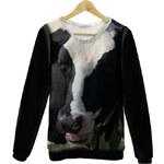 KOKO Černo-bílá mikina Black Cow