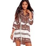 MISSGUIDED Ležérní shirt šaty s paisley potiskem