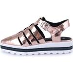 Sandálky v bronzové barvě na platformě Sixtyseven