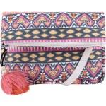 Modro-růžová vzorovaná crossbody kabelka Pieces Marlie