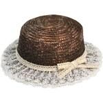 Art of Polo Slaměný klobouk alá slečna Marplová hnědý