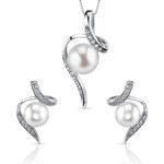 Eppi Stříbrná kolekce s perlami a zirkony Menmoli
