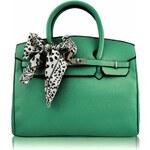 Dámská kabelka Tote / LS Fashion - LS00141B - zelená barva