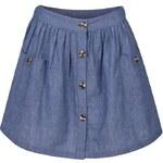 SoulCal Chambray Skater Skirt Blue 8 (XS)