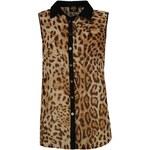 Golddigga Sleeveless All Over Print Shirt Ladies Leopard 8 (XS)