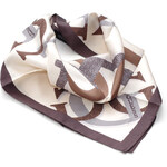Guess hedvábný šátek s logy