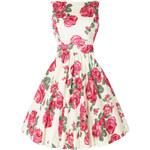 Dámské retro šaty Lady Vintage Růžová růže