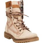 Weinbrenner Kožené kotníčkové boty s výraznou podešví
