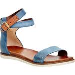 Baťa Dámské kožené sandály s kotníčkovým páskem