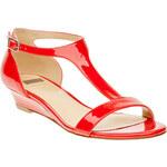 Baťa Červené dámské sandály s páskem přes nárt