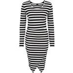 BODYFLIRT Pletené šaty v zavinovacím vzhledu bonprix