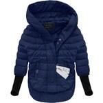 Dámská bunda s úplety - modrá Velikost: S