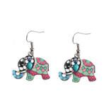 Náušnice sloni etno styl s ornamenty