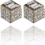 Náušnice kostky posázené krystaly Swarovski elements NE0845-0314