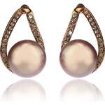 Náušnice perličky s krystalky NE0713-0308
