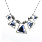 Náhrdelník trojhranný broušený krystal NK0239-0305