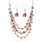 Sada z minerálů náušnice a náhrdelník SD0056-27