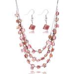 Sada z minerálů náušnice a náhrdelník SD0056-35