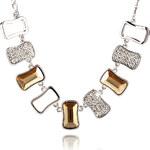 Náhrdelník obdélníky s krystaly Swarovski elements NK0090-0234