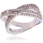 Prsten překřížený s krystaly PR0024-035812