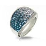 Prsten chirurgická ocel s krystaly Swarovski elements - dvoubarevný PR0067-015315