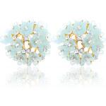 Náušnice masivní květiny NE0489-0305