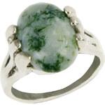 Prsten přírodní kámen zeleno-bílý PR0099-035341