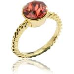 Prsten krystal zlatý kov PR0085-035003