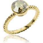 Prsten krystal zlatý kov PR0085-035427