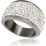 Prsten výrazný s krystalky chirurgická ocel PR0072-015807